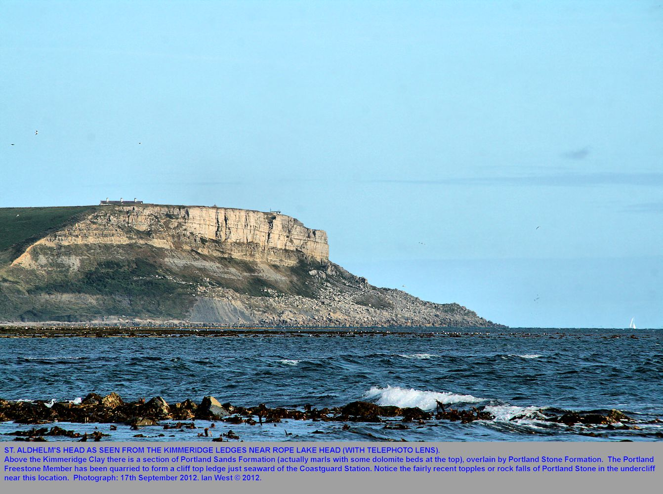 St. Aldhelm's Head, Dorset, Jurassic Coast seen from near Rope Lake Head, with telephoto lens, 17th September 2012