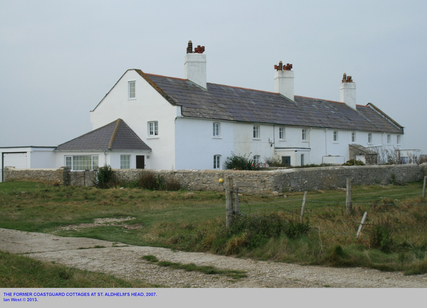 The former Coastguard Cottages at St. Aldhelm's Head, as seen in October 2007