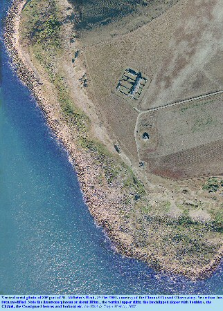 Vertical aerial photograph of the SW part of St. Aldhelm's Head, Dorset, in October 2003