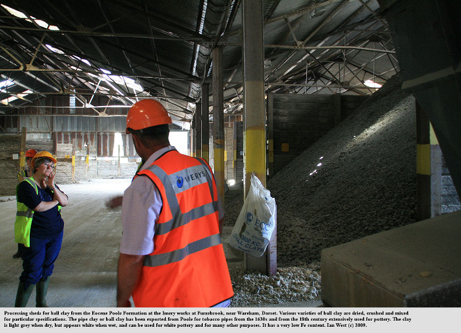 In the drying and crushing sheds of the Imery ball clay company, at Furzebrook, near Wareham, Dorset