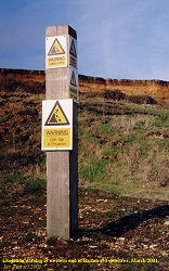 Warning of landslide at Barton-on-Sea