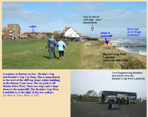 Locations at Barton-on-Sea, Hampshire - Hoskin's Gap, 2007