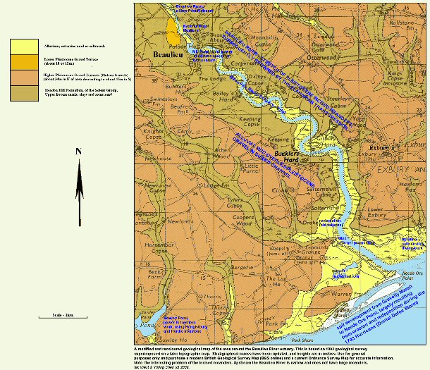 The geology of the Beaulieu River estuary, Hampshire, as surveyed in 1893, and with some updating