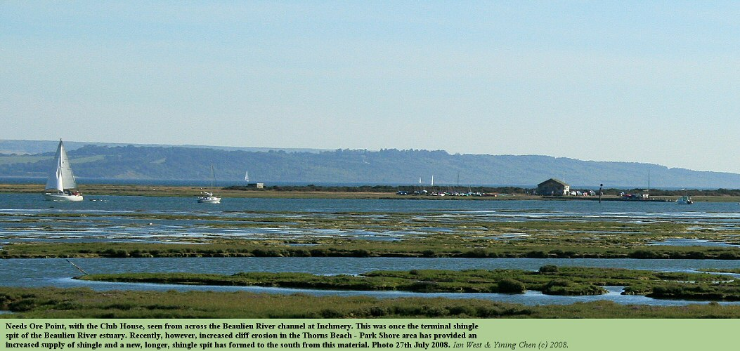 A distant view from Inchmery of Needs Ore Point, at the mouth of the Beaulieu River estuary, 27th July 2008