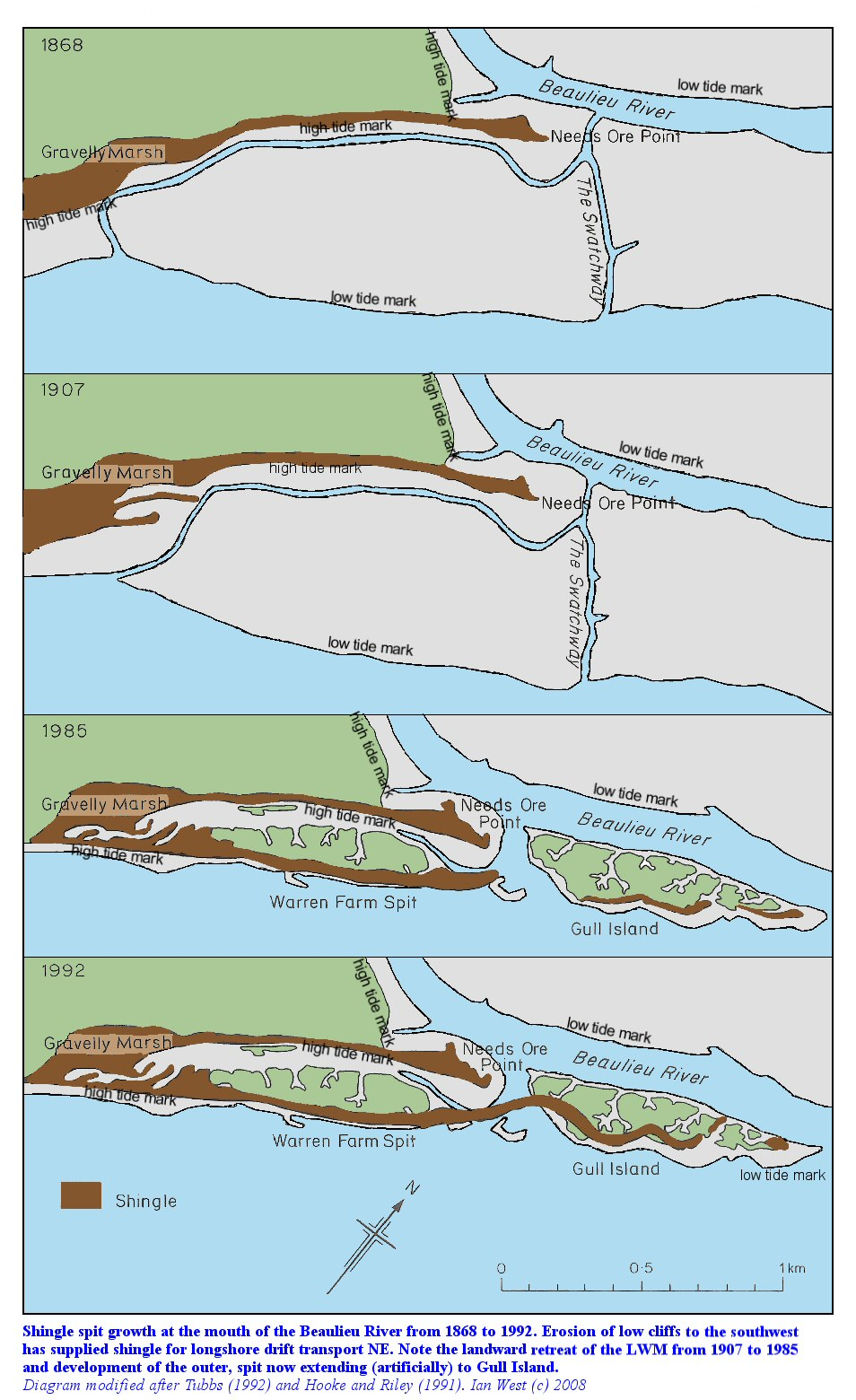 Beaulieu River Estuary - Solent - part of Geology of the ...