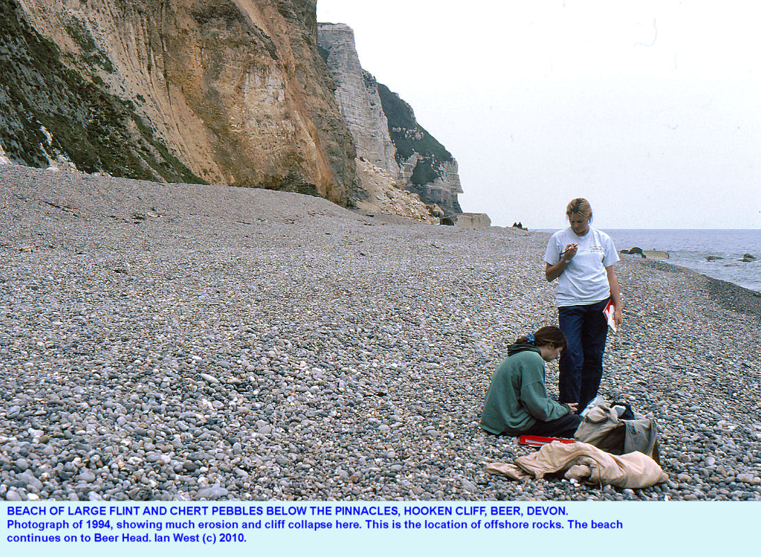 Beach below Hooken Cliff, Beer, East Devon, 1994