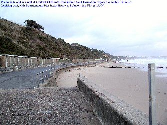 Promenade and sea-wall at Canford Cliffs, west of Branksome Chine, Dorset