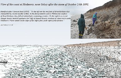 Erratics exposed by the 1891 storm, Medmerry, Selsey, Sussex
