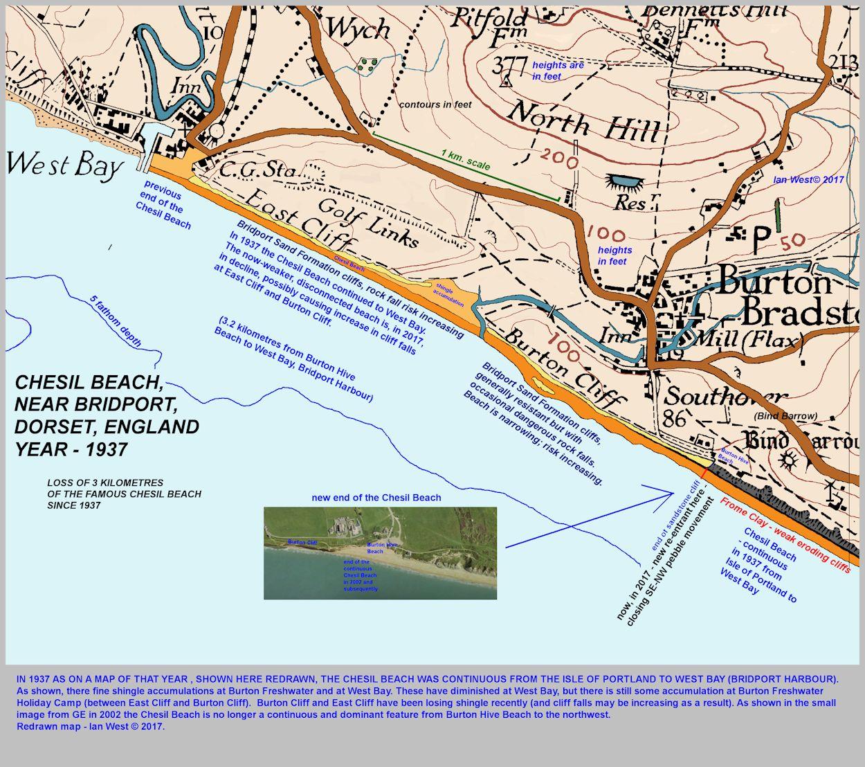 Burton Cliff, Burton Bradstock, Jurassic Coast, Geological Description
