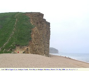 East Cliff at West Bay, Bridport, Dorset, April 2004