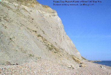Frome Clay (Fuller's Earth) at West Cliff, West Bay, Bridport, Dorset