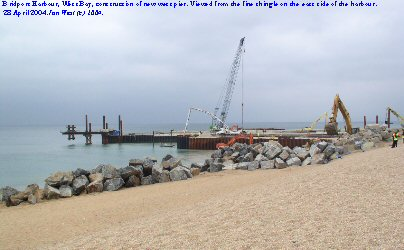 Construction of new western harbour pier, West Bay, Bridport, Dorset