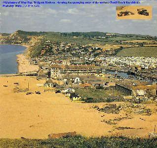 Old photograph of West Bay, Bridport, Dorset, in the early 1960s