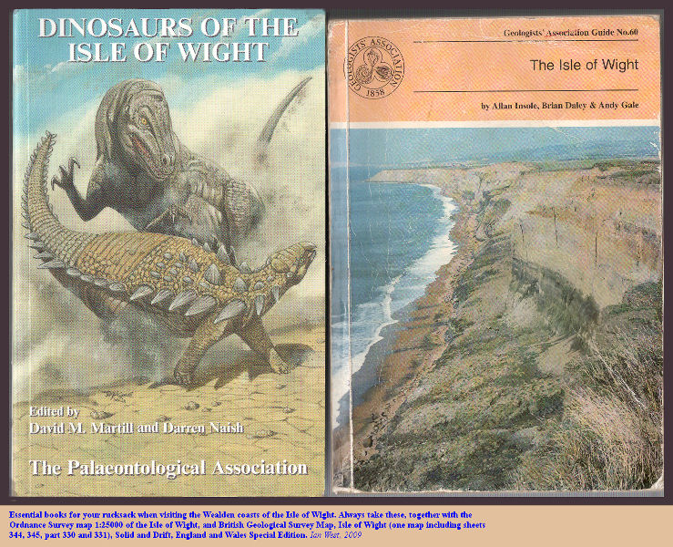 Key reference books for use when visiting the Wealden strata of Brighstone Bay and elsewhere on the Isle of Wight