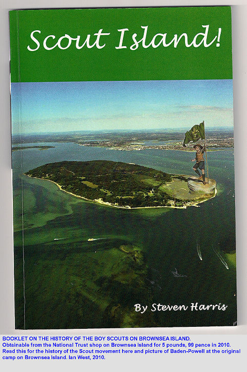 Booklet on the history of the Scout movement on Brownsea Island, Poole Harbour, Dorset, UK