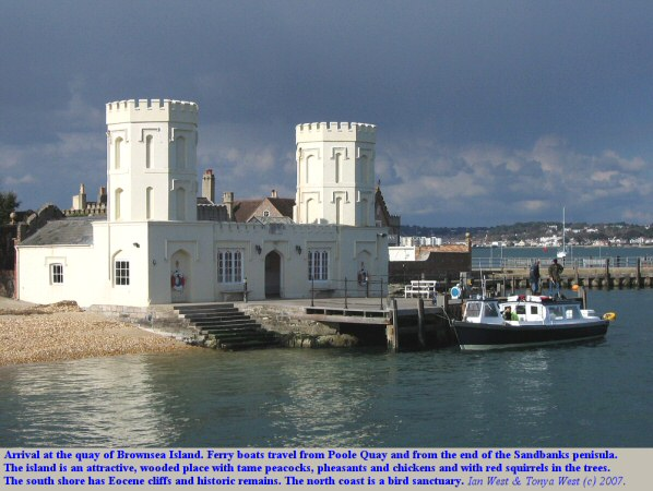 Arriving at the quay of Brownsea Island, Poole Harbour, Dorset,UK