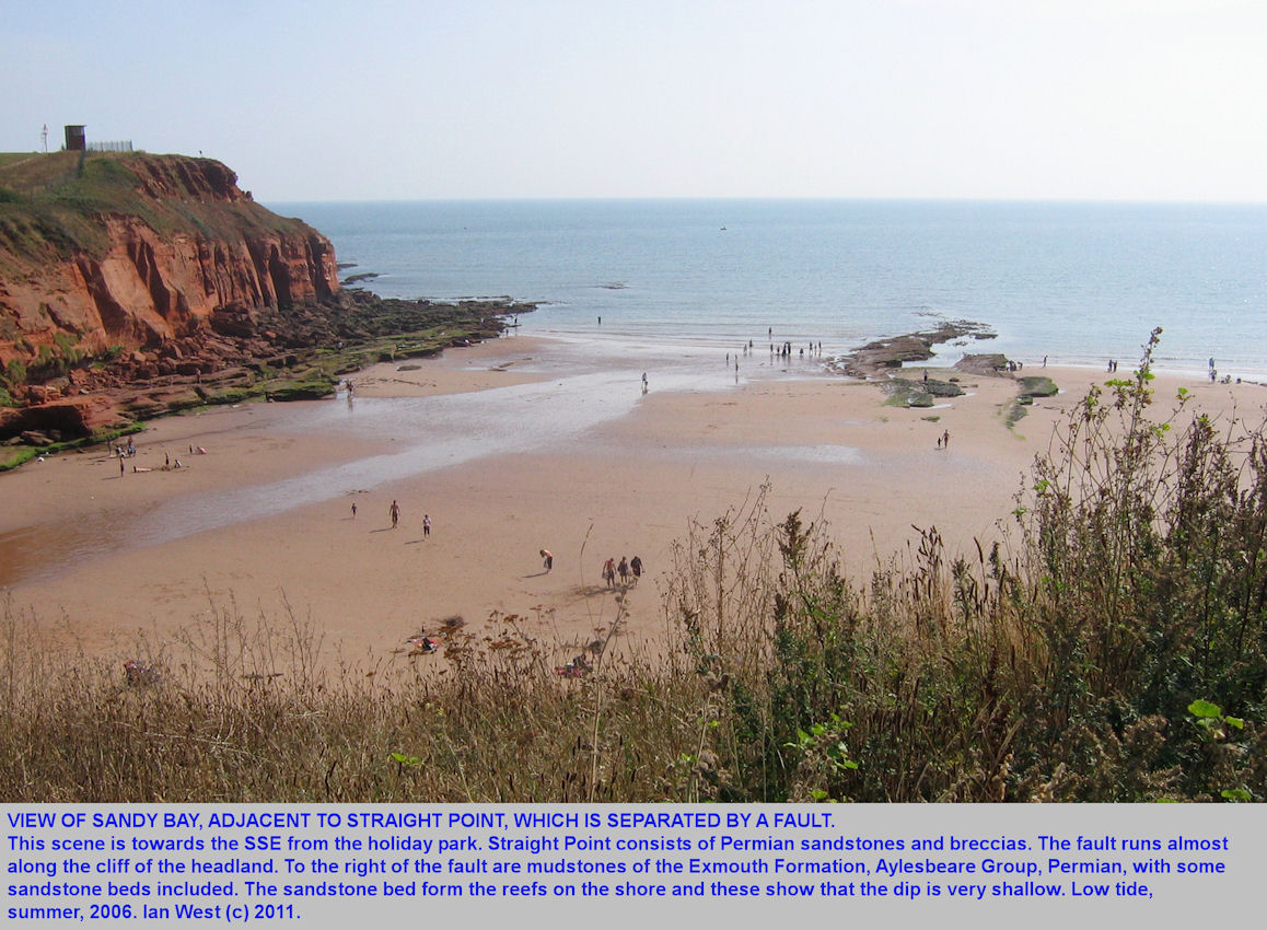 The western part of Straight Point and the eastern end of Sandy Bay, near Exmouth, East Devon, 2006
