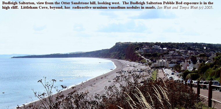 Budleigh Salterton, Devon, general view of the small town from the east