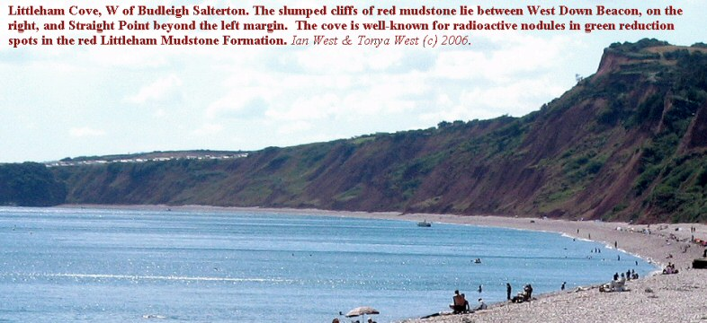 Littleham Cove, well-known for radioactive nodules, west of Budleigh Salterton, Devon, 2006