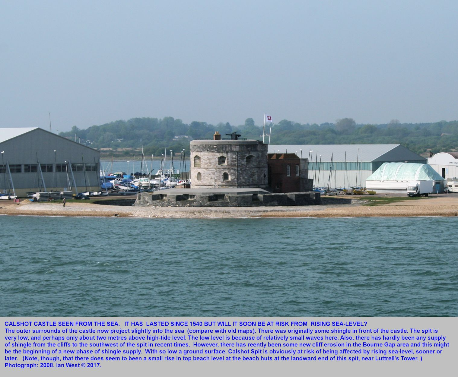 Calshot Castle, Calshot Spit, as seen from the sea. Spit