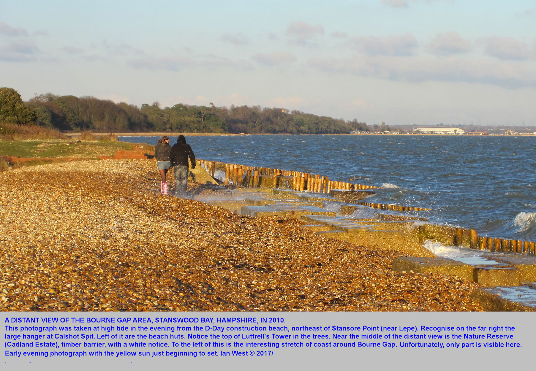 A view of the Bourne Gap coast of Stanswood Bay, in 2010, as seen from the D-Day construction area near Stansore Point, Lepe Beach area