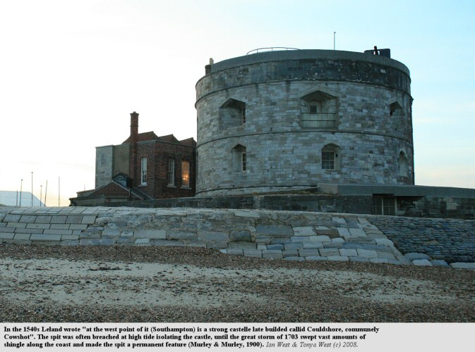 Calshot Castle, built during the 1540s, at the end of Calshot Spit, Southampton Water
