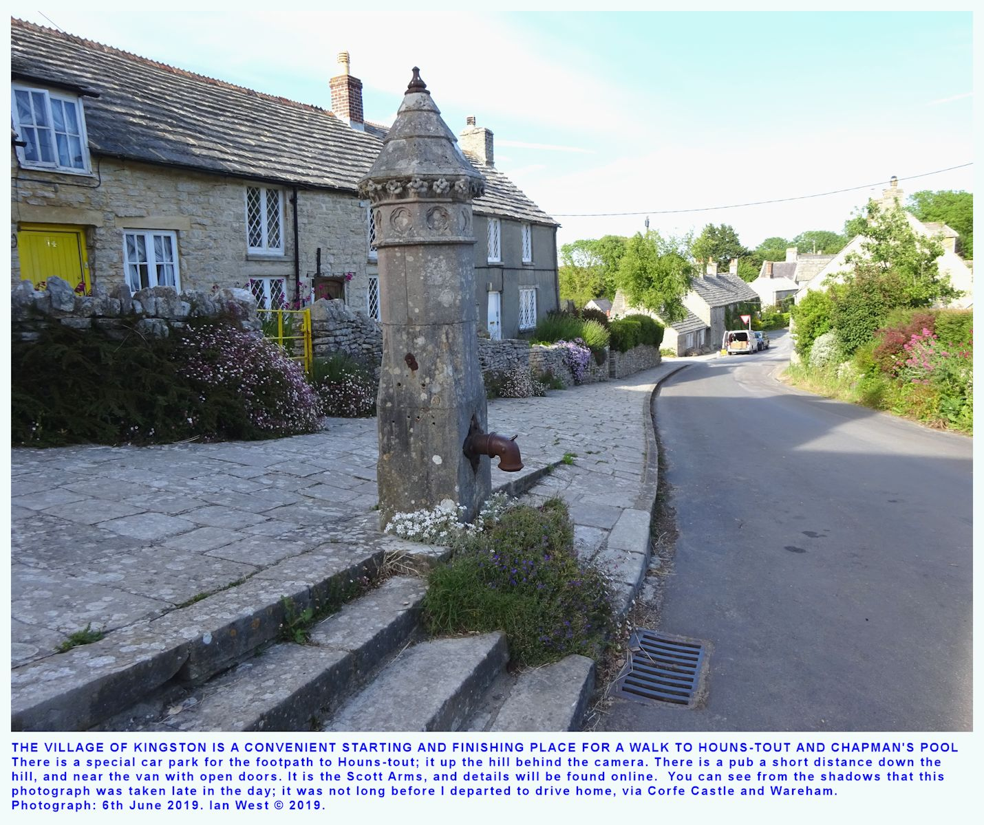 Back, from Houns-tout to the village of Kingston
