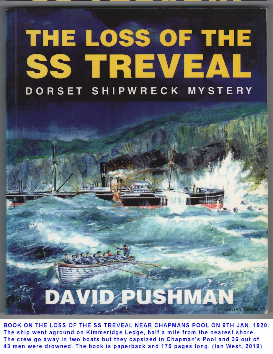 Book by Pushman on the shipwreck disaster involving the steamship Treveal, January 1920