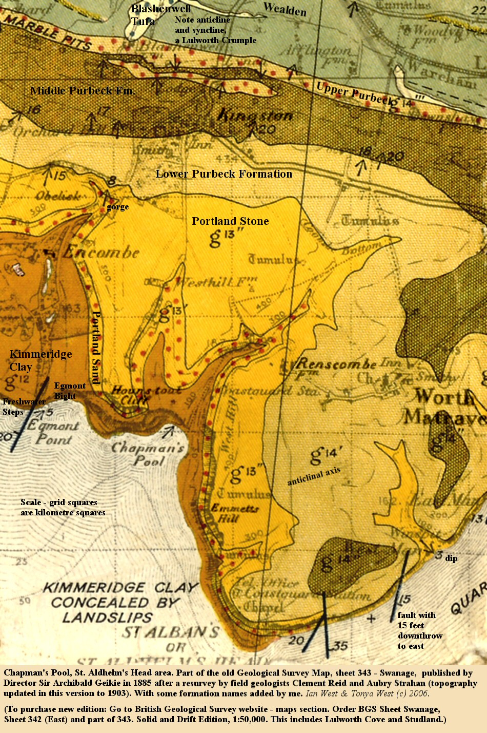 Map Of Uk Dorset.Geology Of The Central South Coast Of England Introduction