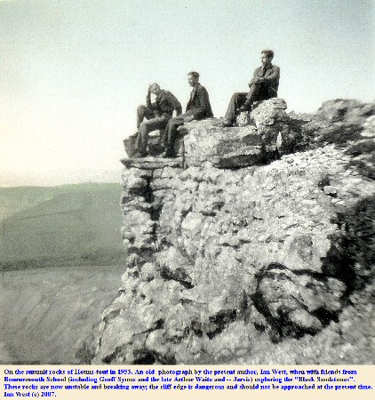On the top rocks of Houns-tout summit near Chapman's Pool, Dorset, in 1953
