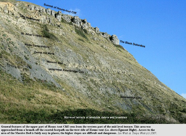 The upper face of Houns-tout Cliff, near Chapman's Pool, Dorset, October 2007