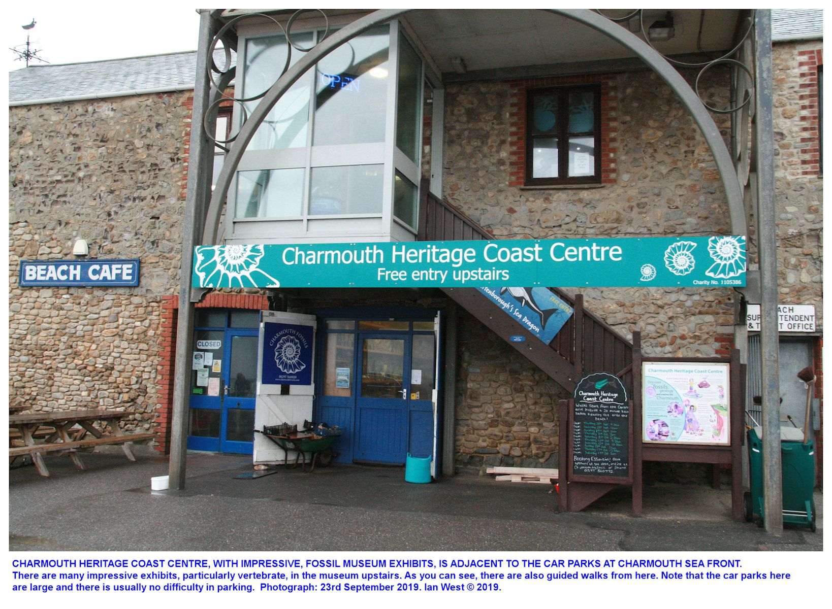 The Heritage Centre at the Old Cement Mill, Charmouth, Dorset as seen in September 2019