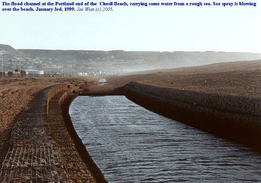 Drainage channel at the Portland end of the Chesil Beach, Dorset