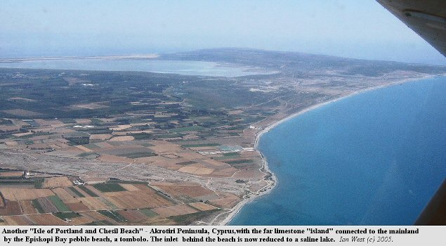 The Akrotiri peninsula, showing the