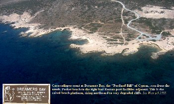 Cave Collapse Coast at Dreamers Bay, near Cape Zevgari, Cyprus. Edited image of limited resolution.