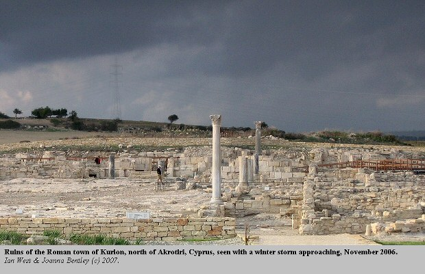 Ruins of the Roman town of Kourion, north of Akrotiri, Cyprus