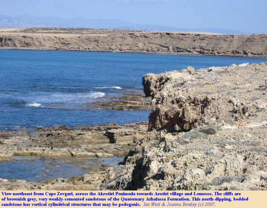 View northeast from Cape Zevgari, Akrotiri Peninsula, Cyprus