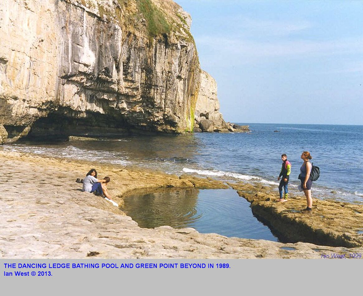 The Bathing Pool at Dancing Ledge, near Swanage, Isle of Purbeck, Dorset in 1989