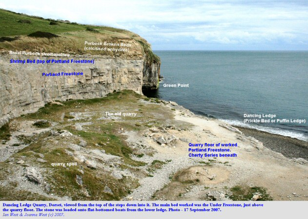 Dancing Ledge, near Swanage, Isle of Purbeck, Dorset, a general view from the top, 18 September 2007