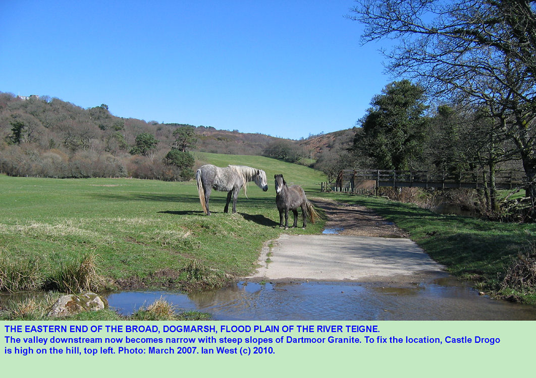 The eastern end of the flood plain of the Teign River near Dogmarsh Bridge, Dartmoor, Devon, 2007