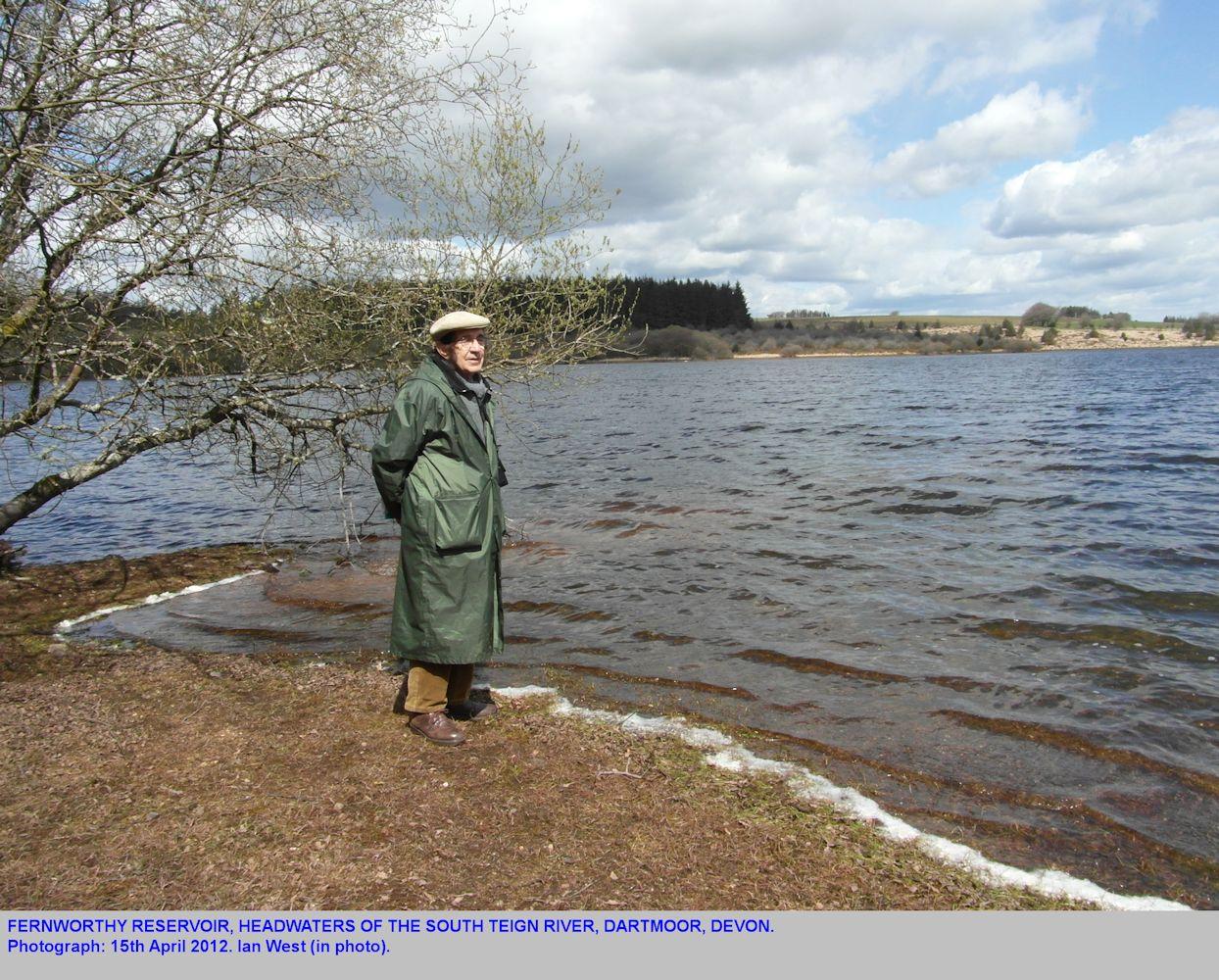 Ian West at Fernworthy Reservoir on Dartmoor Granite, southwest of Chagford, Dartmoor, Devon, 15th April 2012