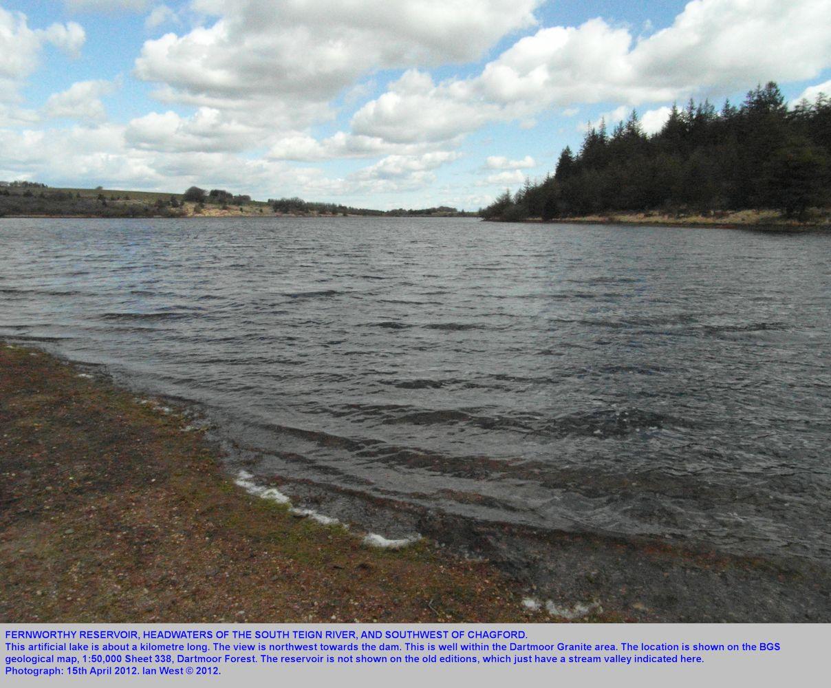 Fernworthy Reservoir on Dartmoor Granite, southwest of Chagford, Dartmoor, Devon, 15th April 2012