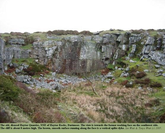 The old disused, Haytor Quarries in the Dartmoor Granite, NE of Haytor Rocks, Devon