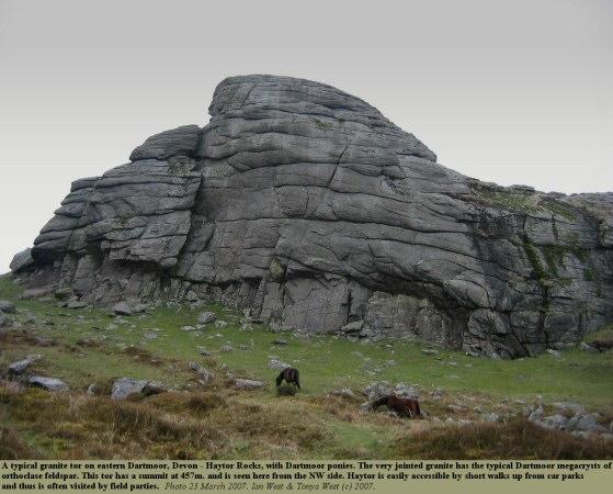 Haytor Rocks, a typical granite tor on eastern Dartmoor, Devon, general view of the northwestern outcrop, 2007