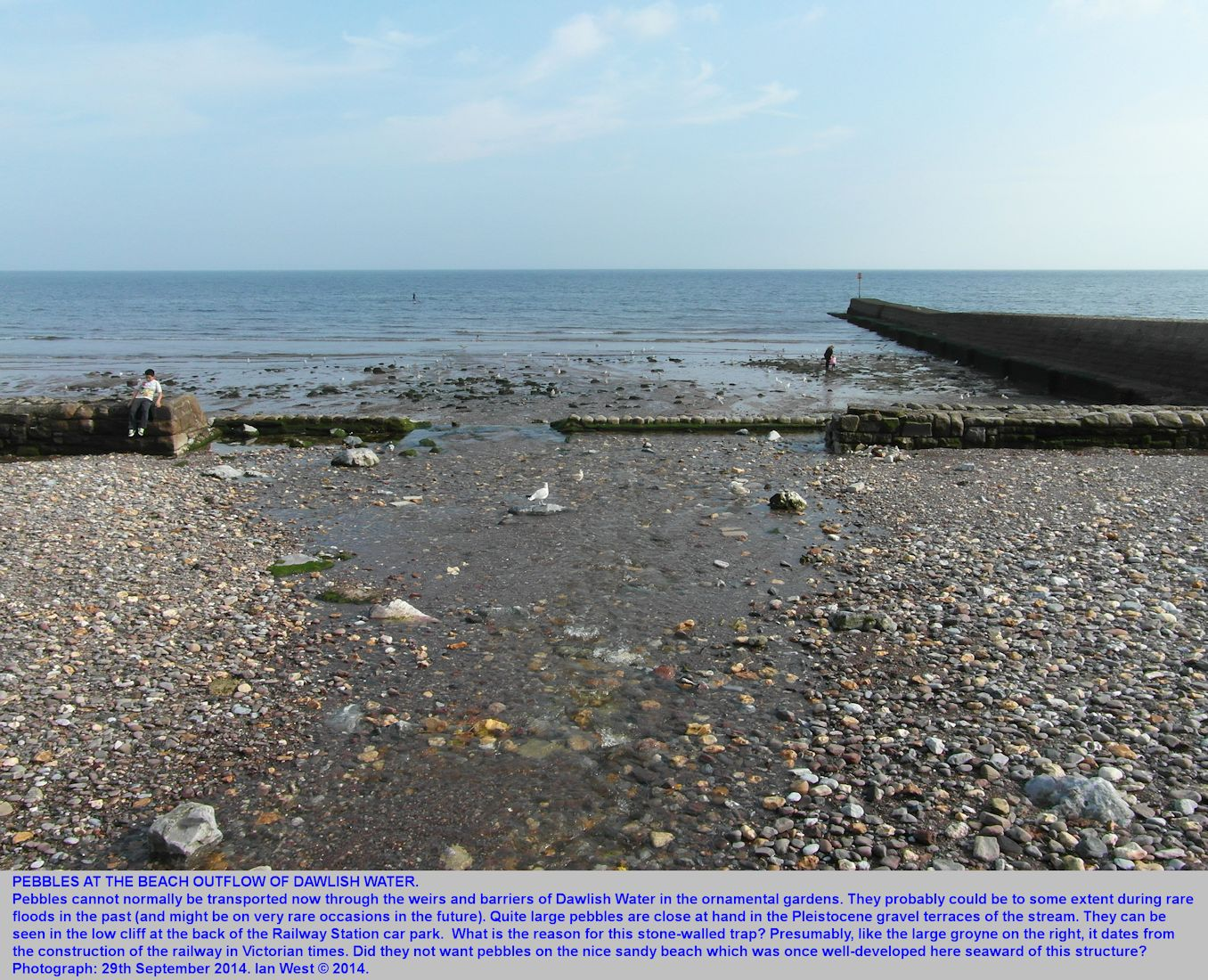 Pebbles present at the outflow of Dawlish Water, Dawlish, Devon, 29th September 2014
