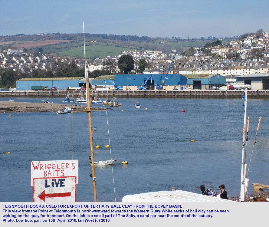 Teignmouth Docks, Teignmouth, Devon, where ball clay from the Bovey Basin is exported by sea, 2010