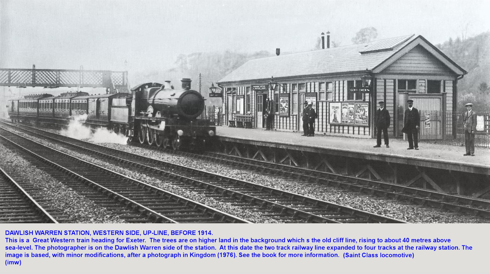 The station at Dawlish Warren, Devon, just prior to the First World War, 1914-18