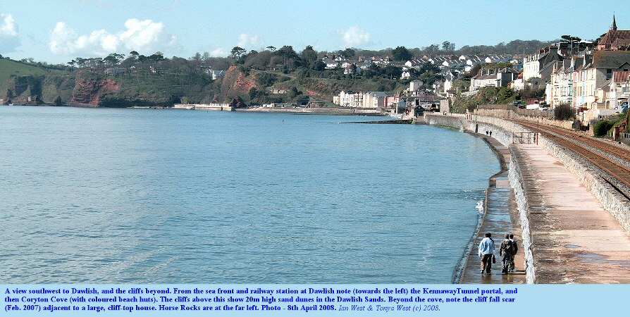 Panoramic view of Dawlish sea front, Devon, 8th April 2008