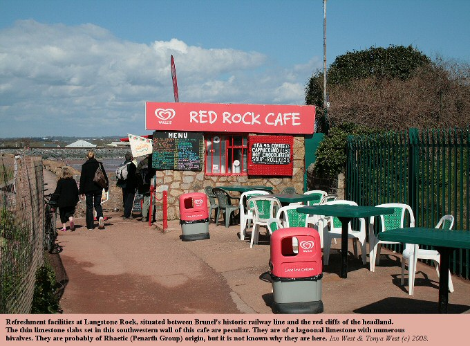 The Red Rock Cafe at Langstone Rock, near Dawlish Warren, Devon, 8th April 2008