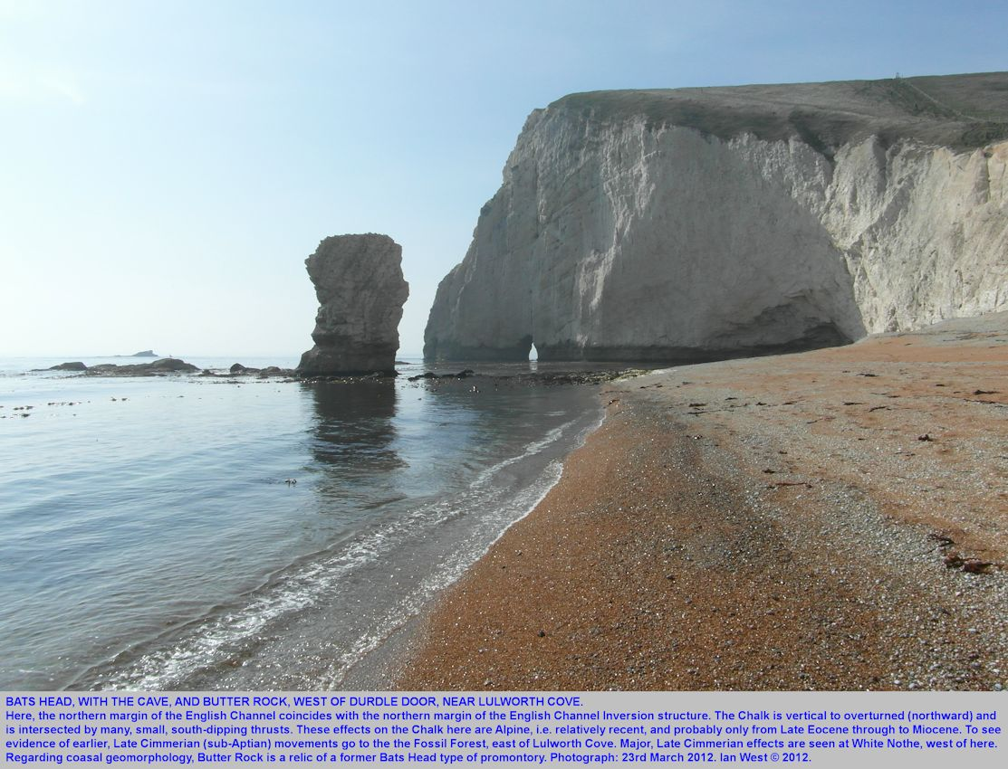 Bat's Head and Butter Rock, west of Durdle Door, near Lulworth Cove, Dorset, 23rd March 2012